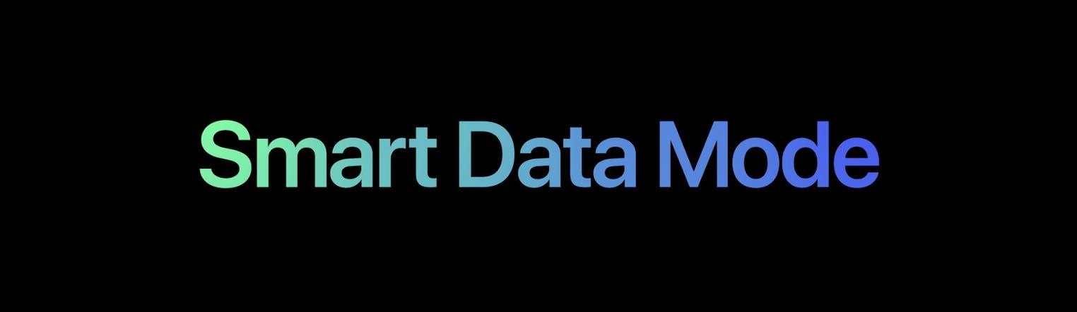 iPhone 12 Smart Data Mode