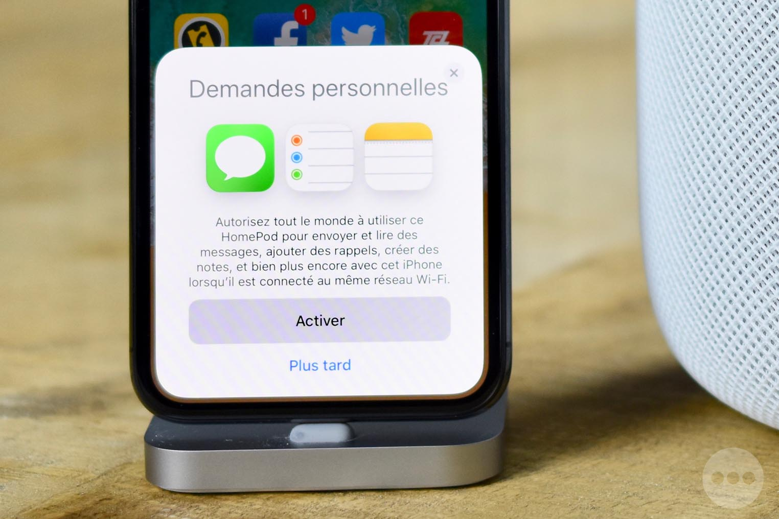 Siri HomePod Demandes personnelles