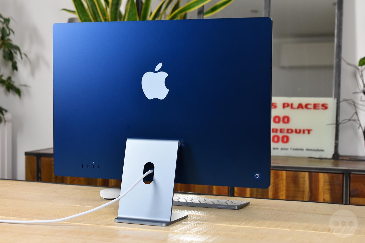 iMac M1 dos bleu