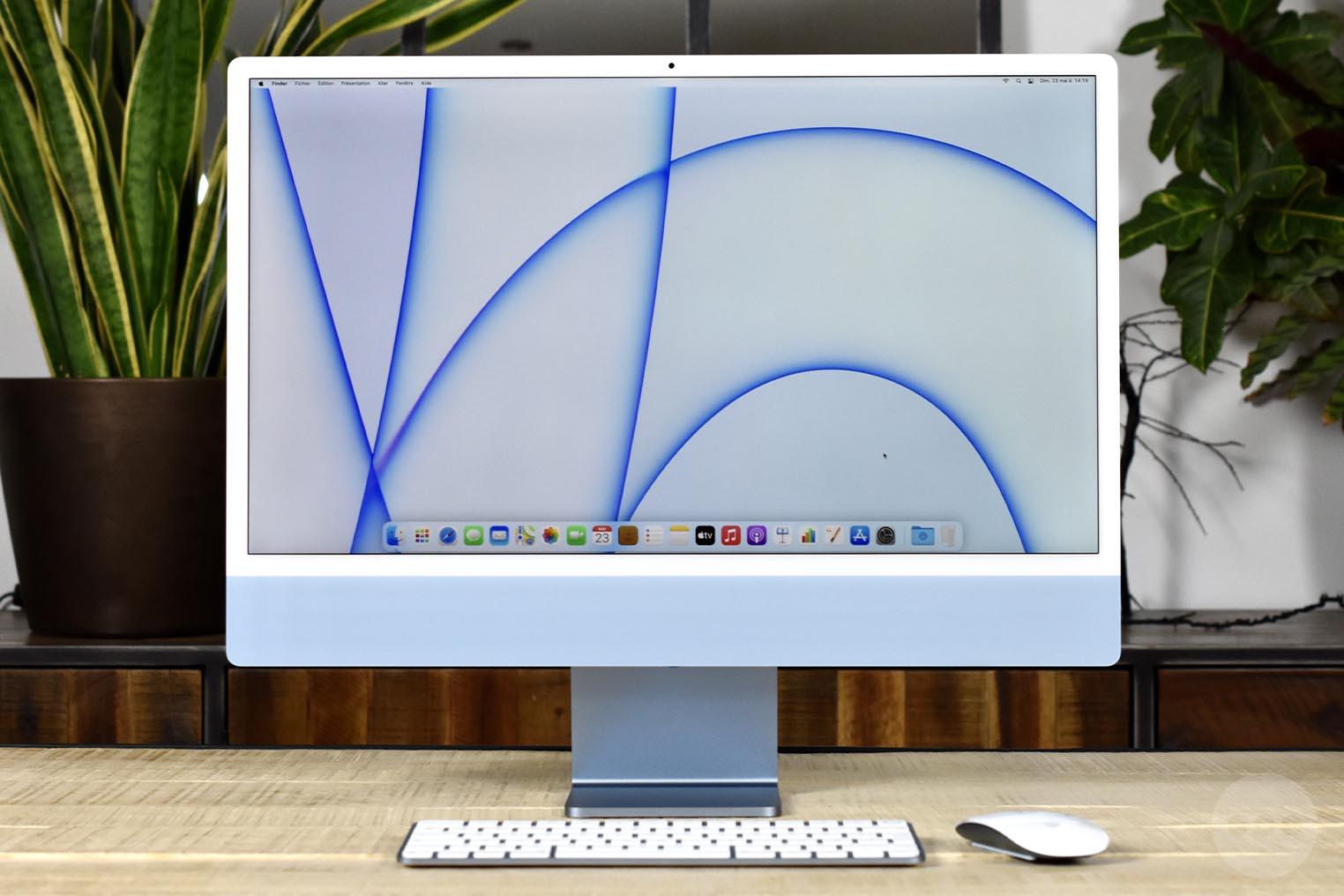 iMac M1 bleu