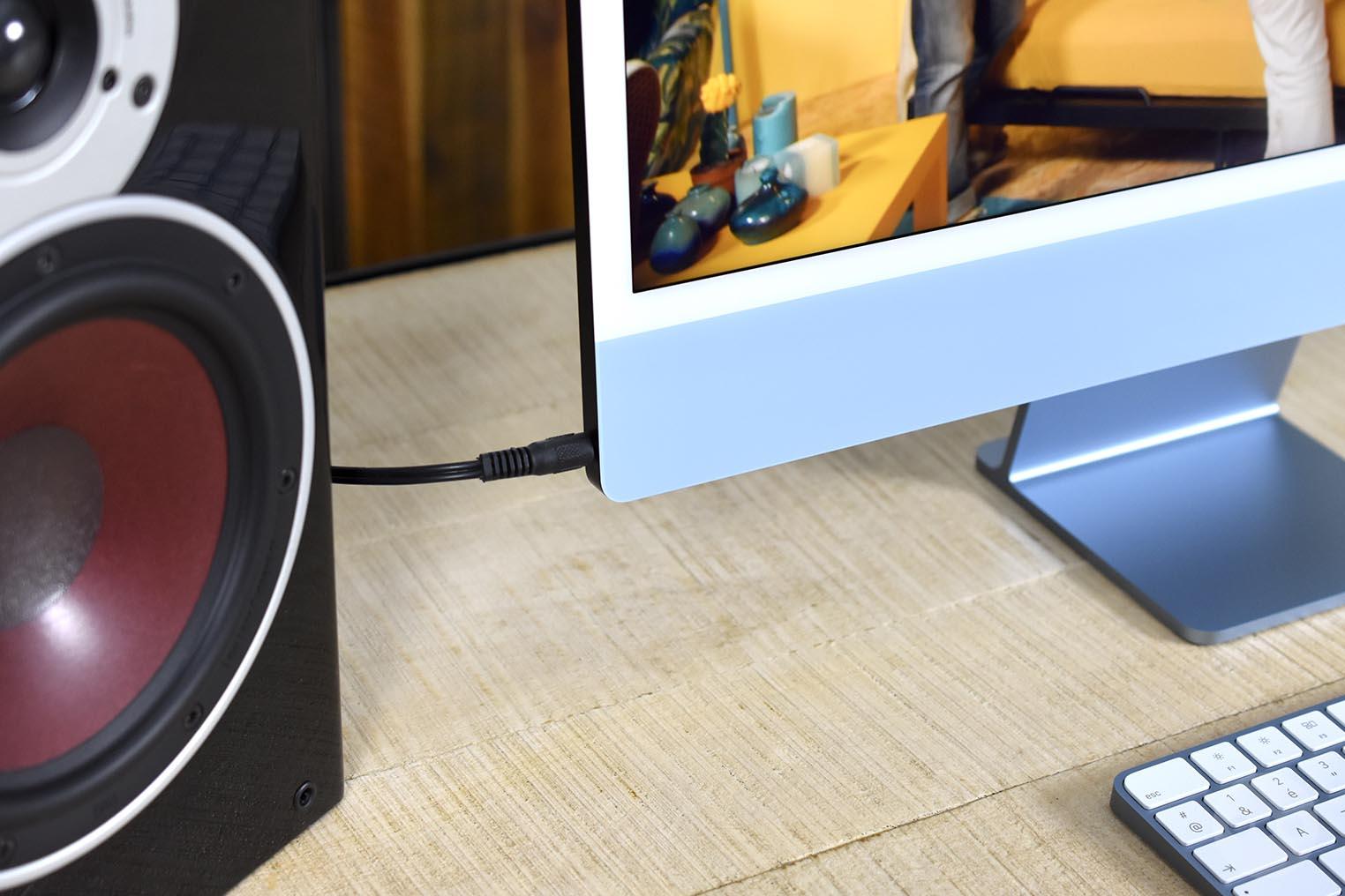 iMac M1 jack enceintes externes