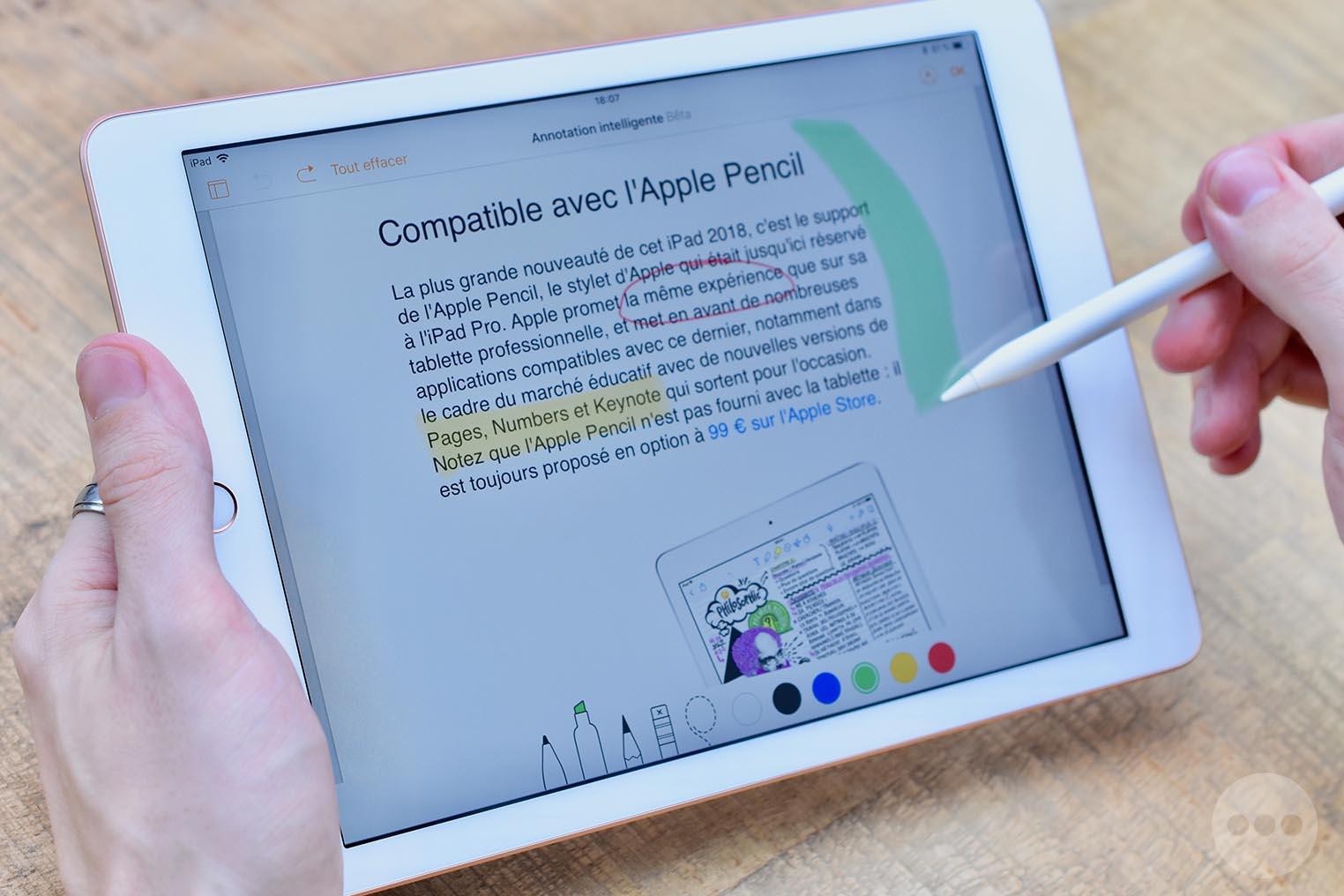 Test iPad 2018 Apple Pencil