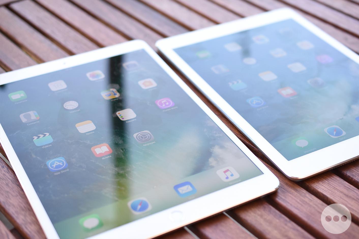 Test iPad Pro 10,5 pouces luminosité