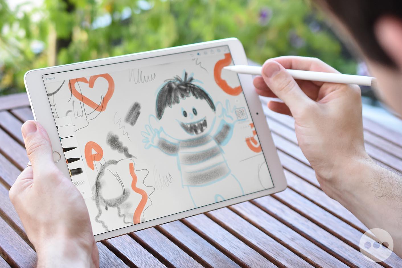 Test iPad Pro 10,5 pouces Apple Pencil