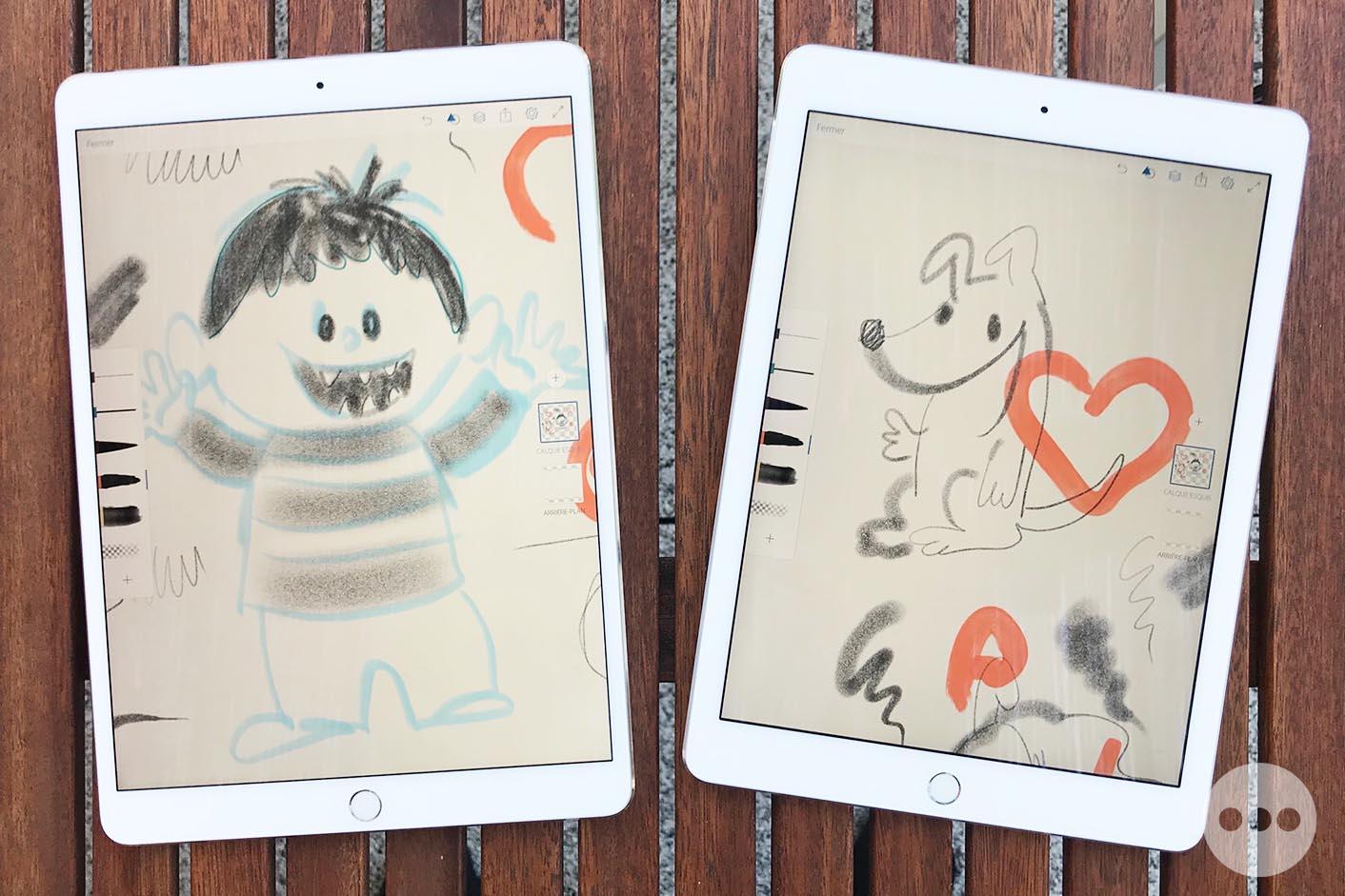 Test iPad Pro 10,5 pouces dessin
