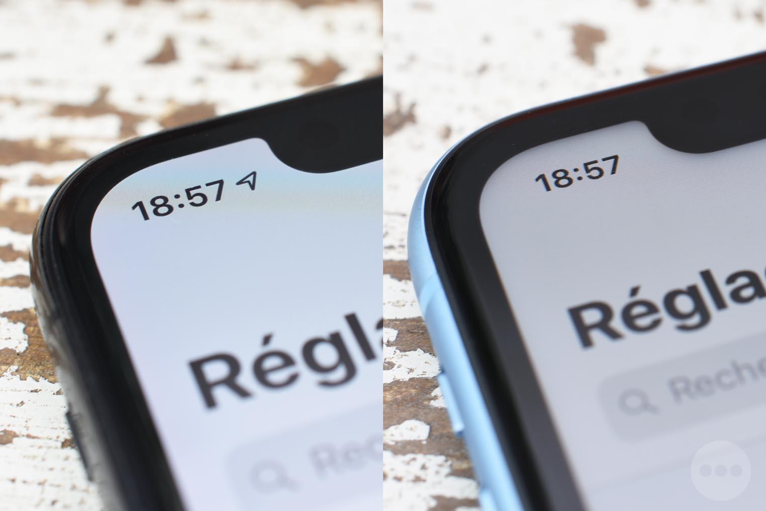 iPhone XR écran LCD ombre
