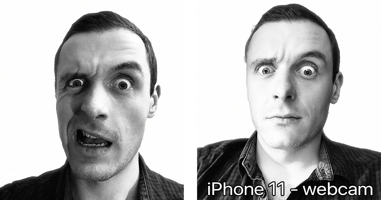 iPhone 11 mode High-key mono