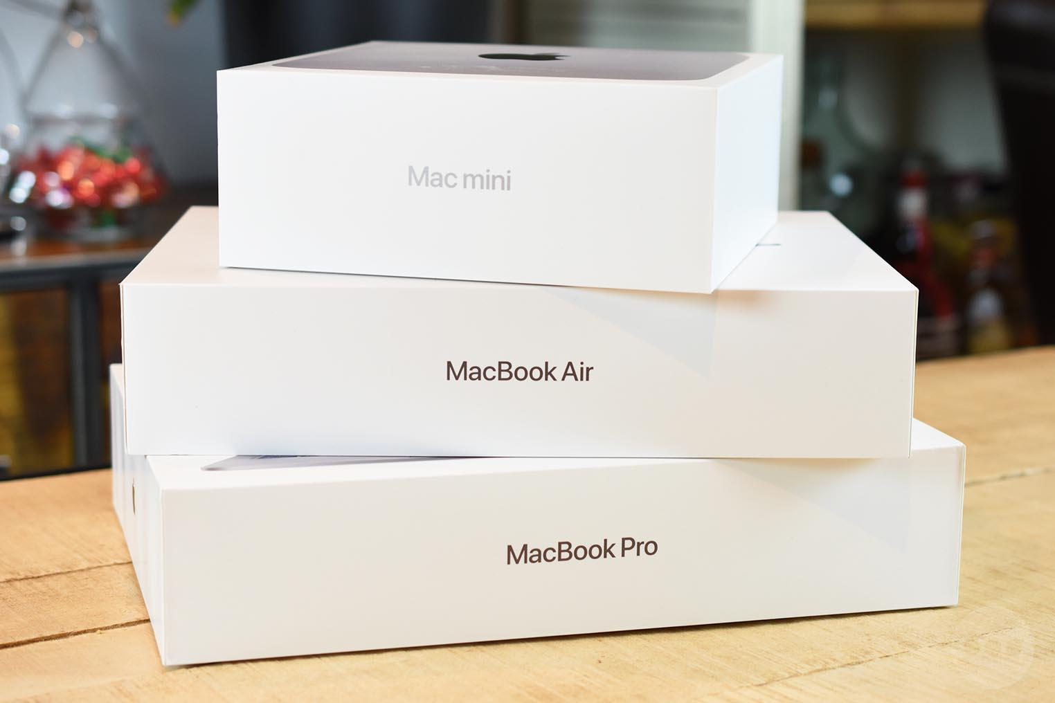 Test Mac Apple M1 boîtes