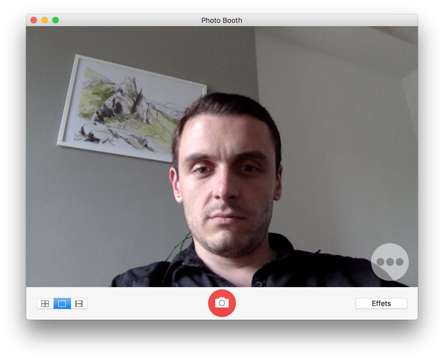 Test MacBook 2017 webcam