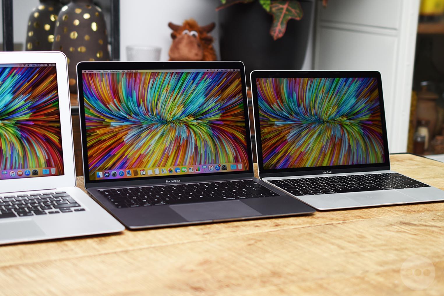 Comparaison MacBook Air 2018 MacBook 12
