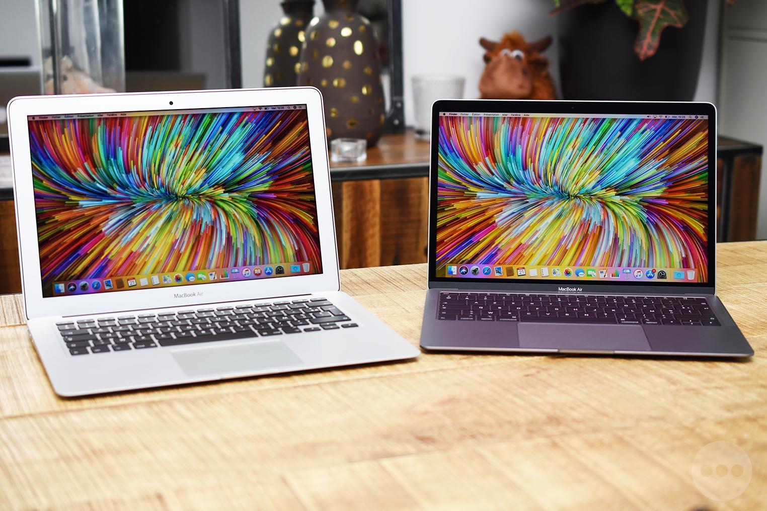Comparaison MacBook Air 2018 2017