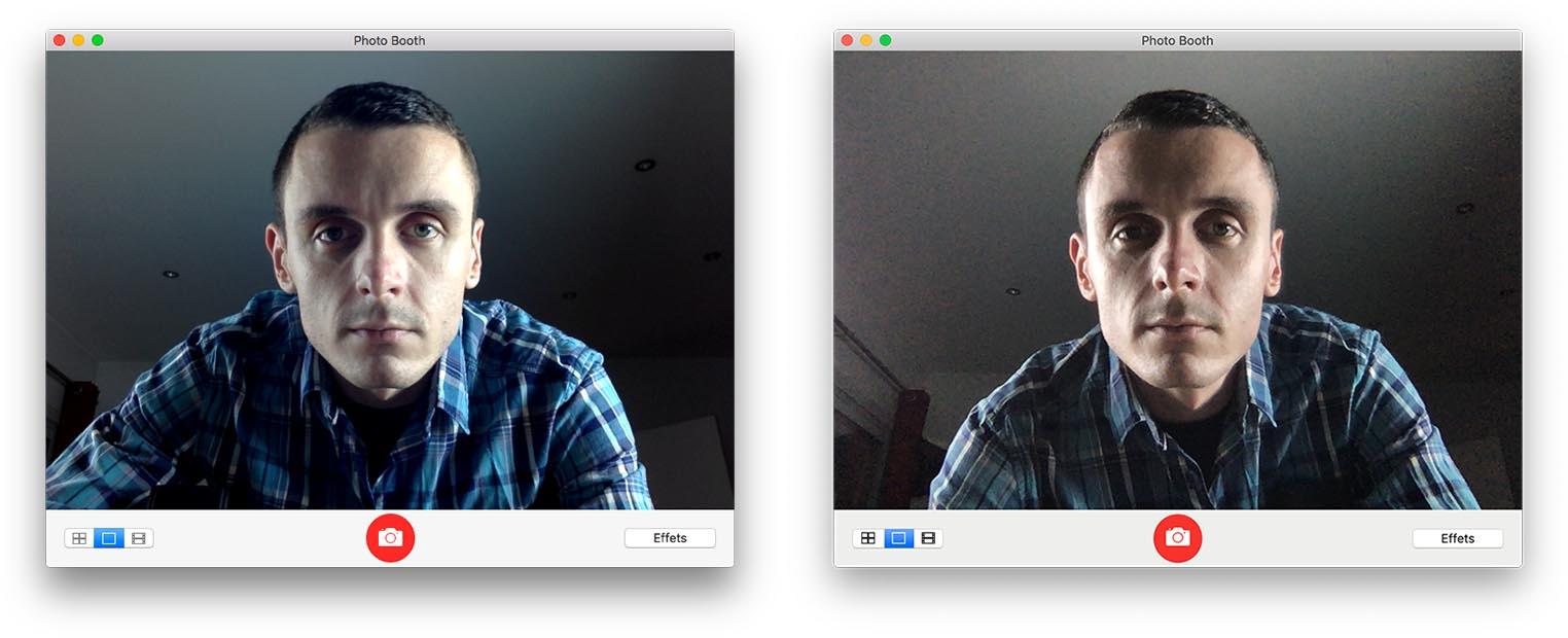 Test MacBook Air 2018 webcam