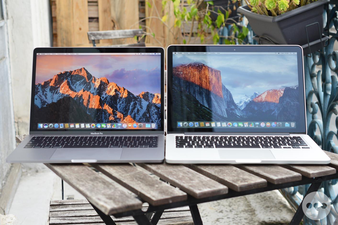 Comparaison taille MacBook Pro 2016