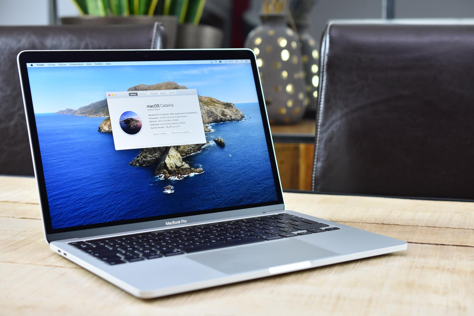 Test MacBook Pro 13 pouces 2020