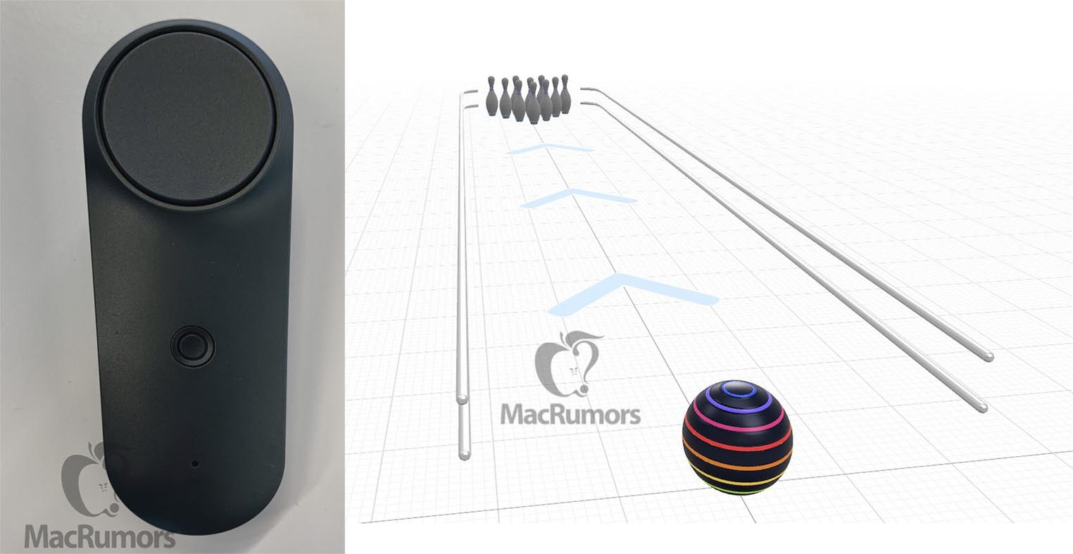 Apple test AR bowling HTC