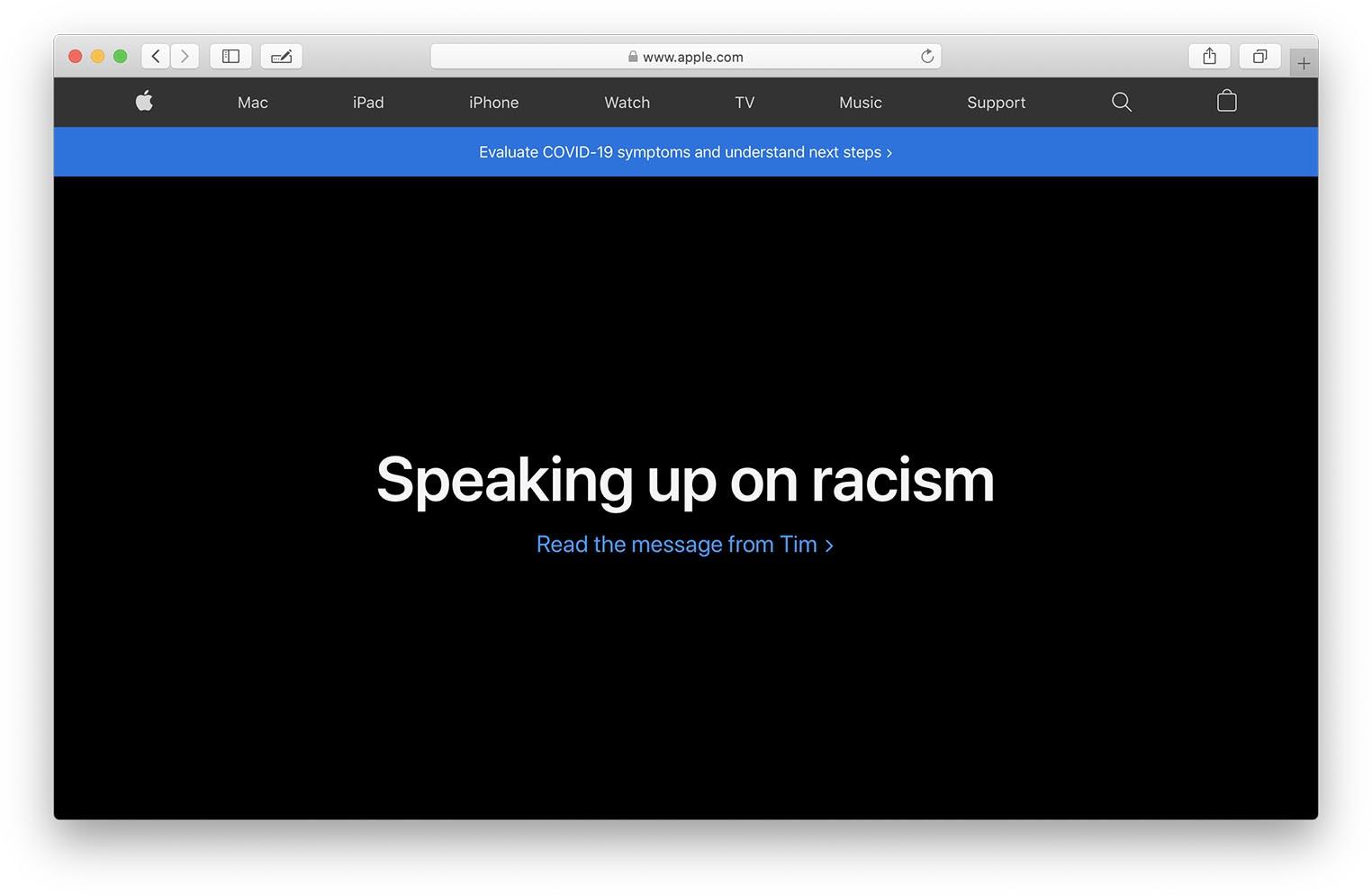 Tim Cook lettre ouverte contre le racisme