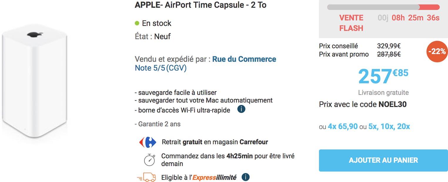 Time Capsule vente flash Rue du Commerce