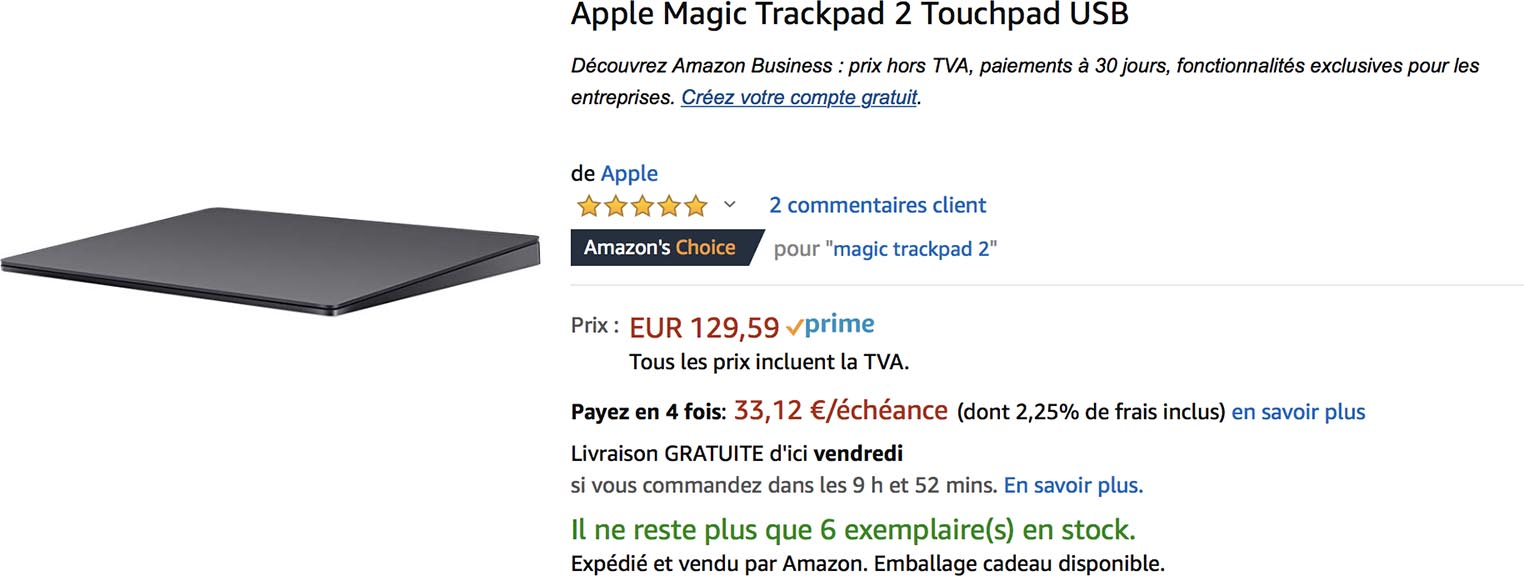 Magic Trackpad Amazon