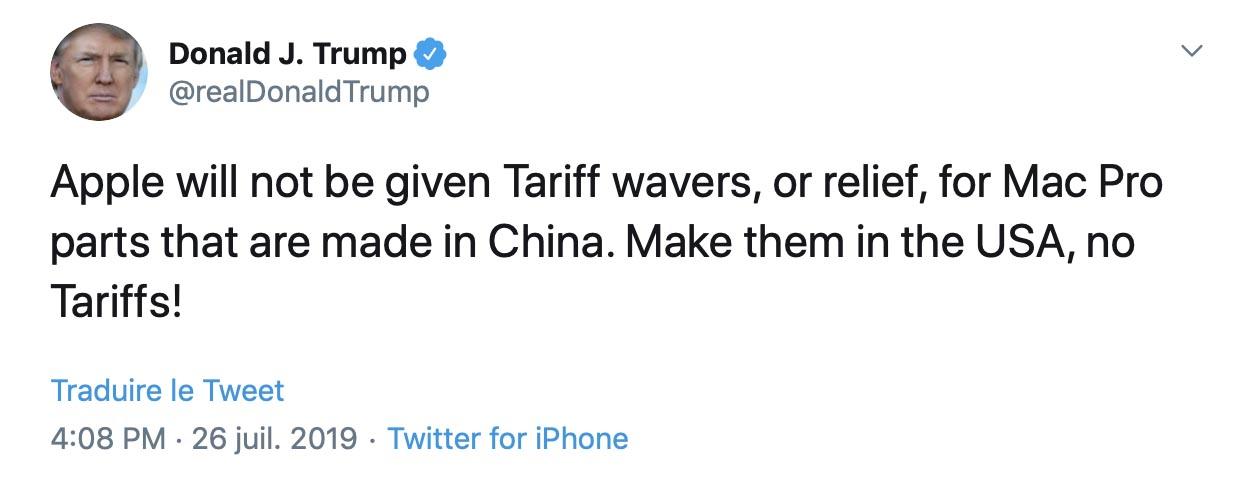 Trump Tweet Mac Pro