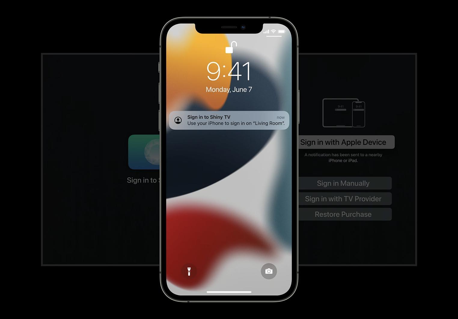 tvOS 15 Authentification iPhone