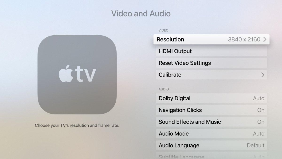 Apple TV 4K tvOS 11