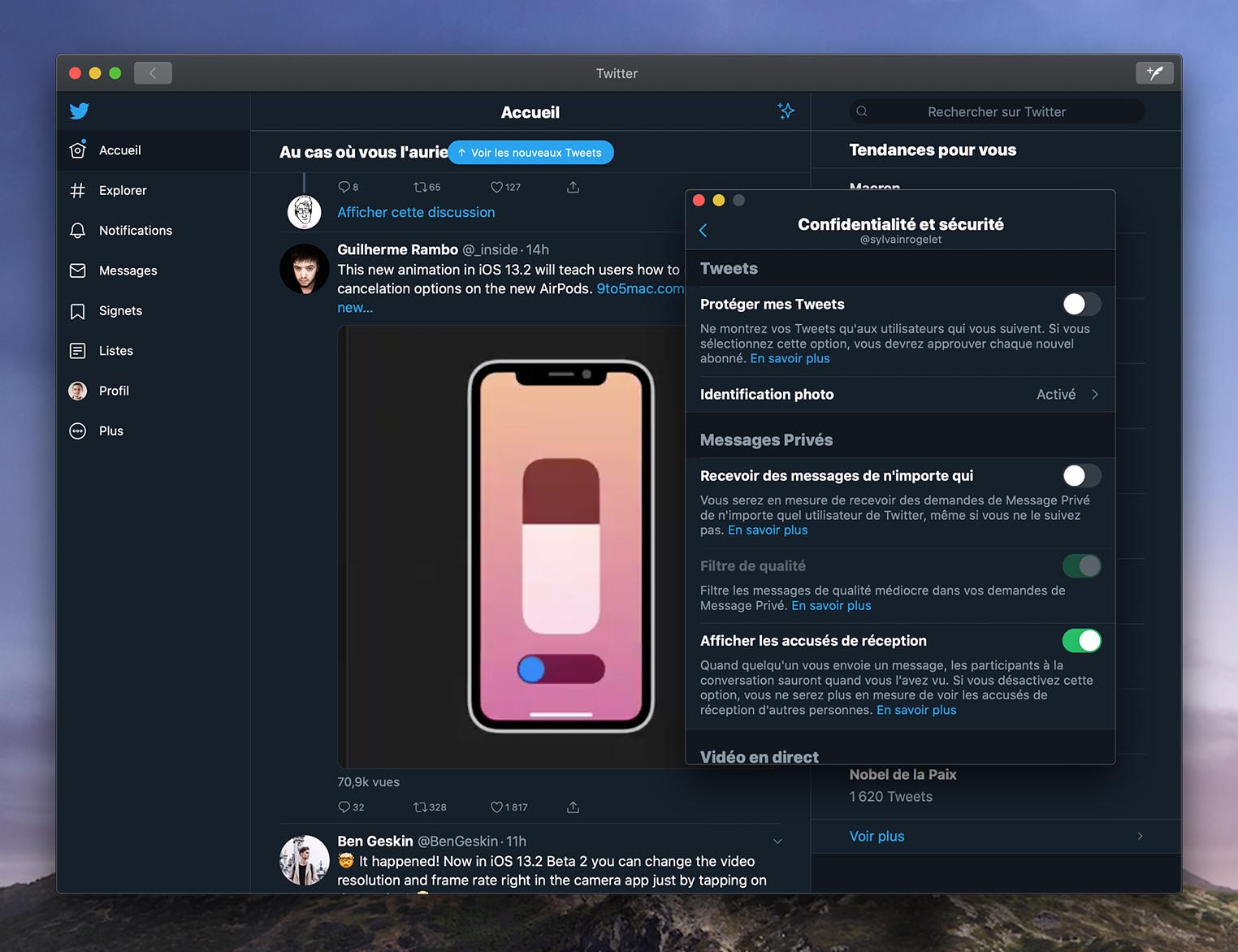 App Twitter macOS Catalina
