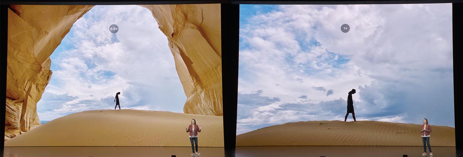iPhone 11 0,5x 1x