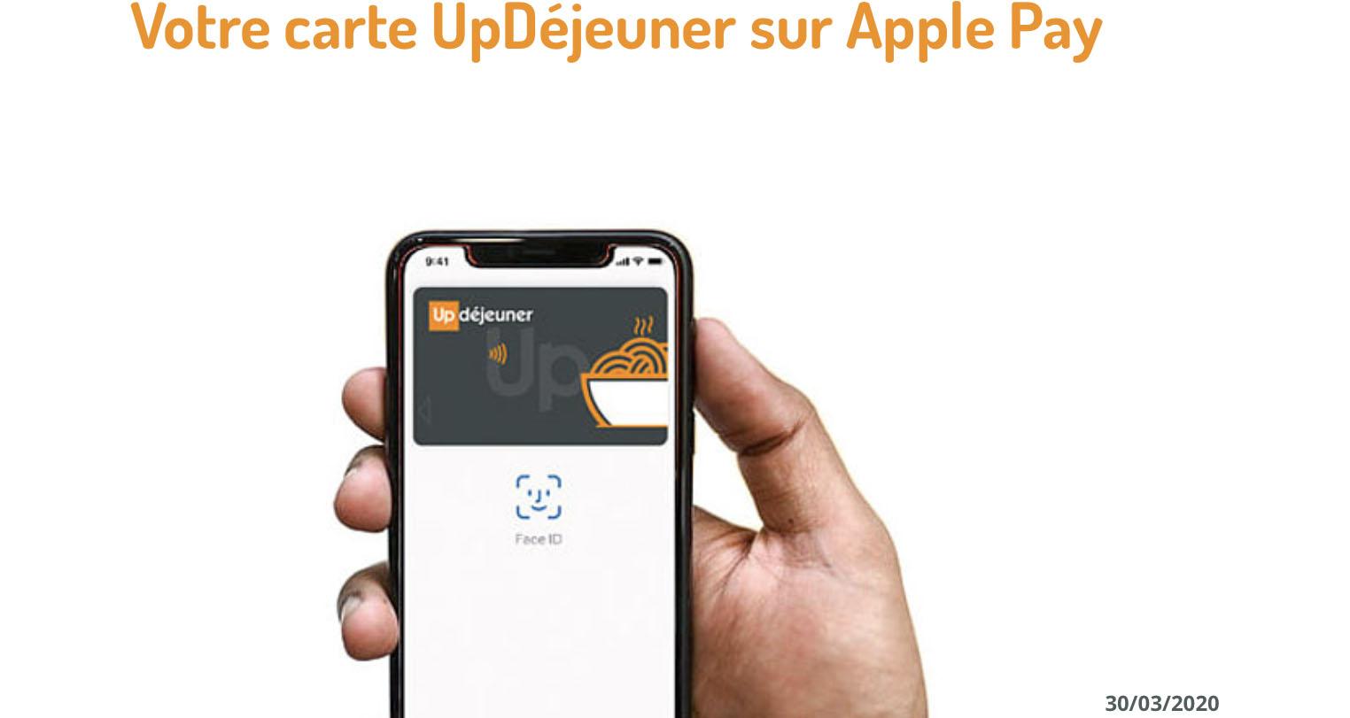UpDéjeuner Apple Pay