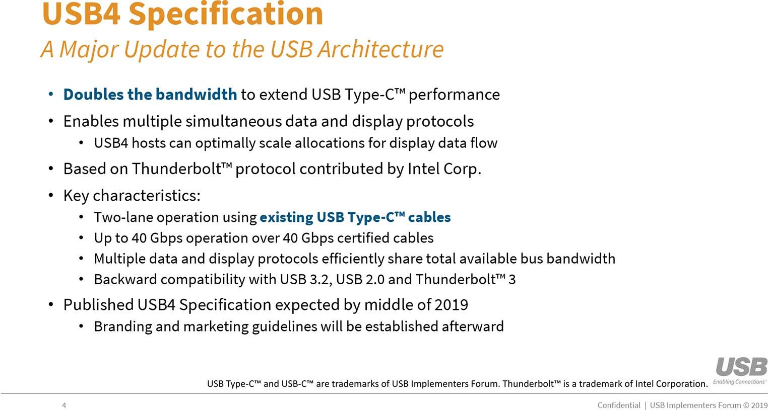 USB 4 spec