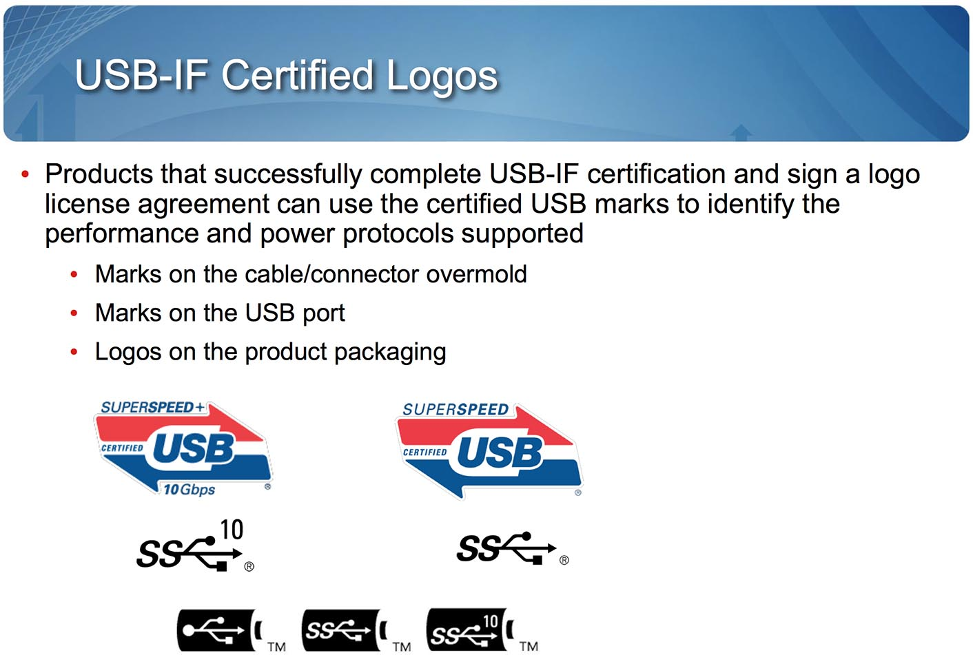USB 3.1 Logos
