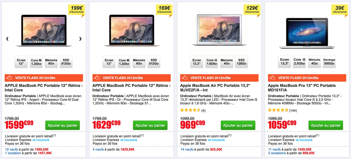 Consomac nouvelle vente flash sur les macbook - Discount vente flash ...