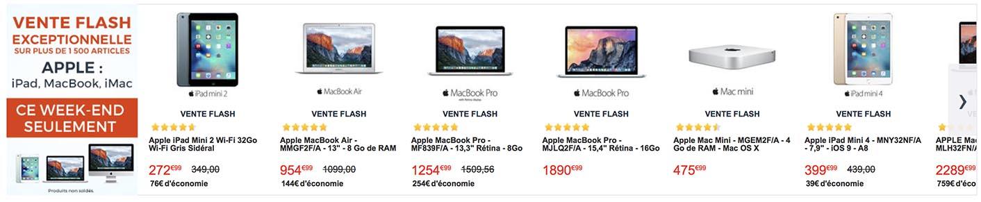 Vente flash Apple CDiscount