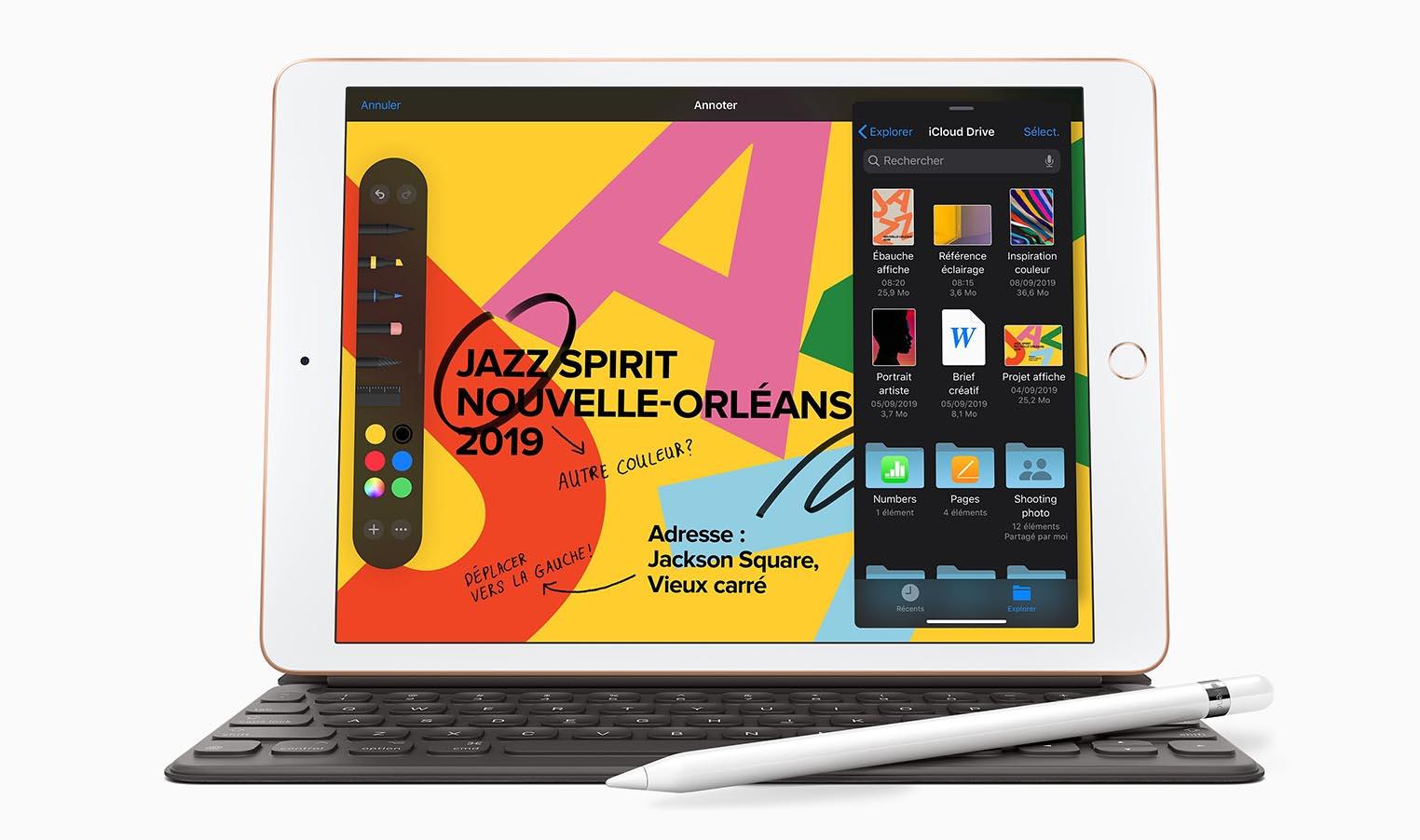 iPad 10,2 pouces Apple Pencil