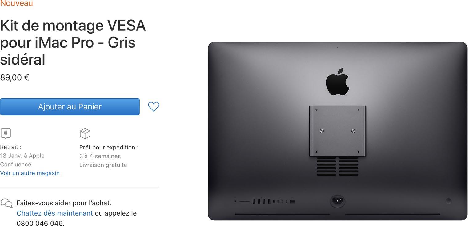 Kit montage VESA iMac Pro
