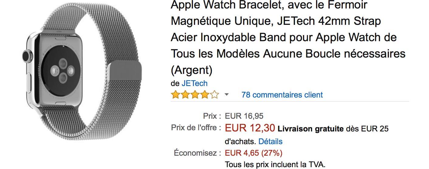 Bracelet milanais Apple Watch