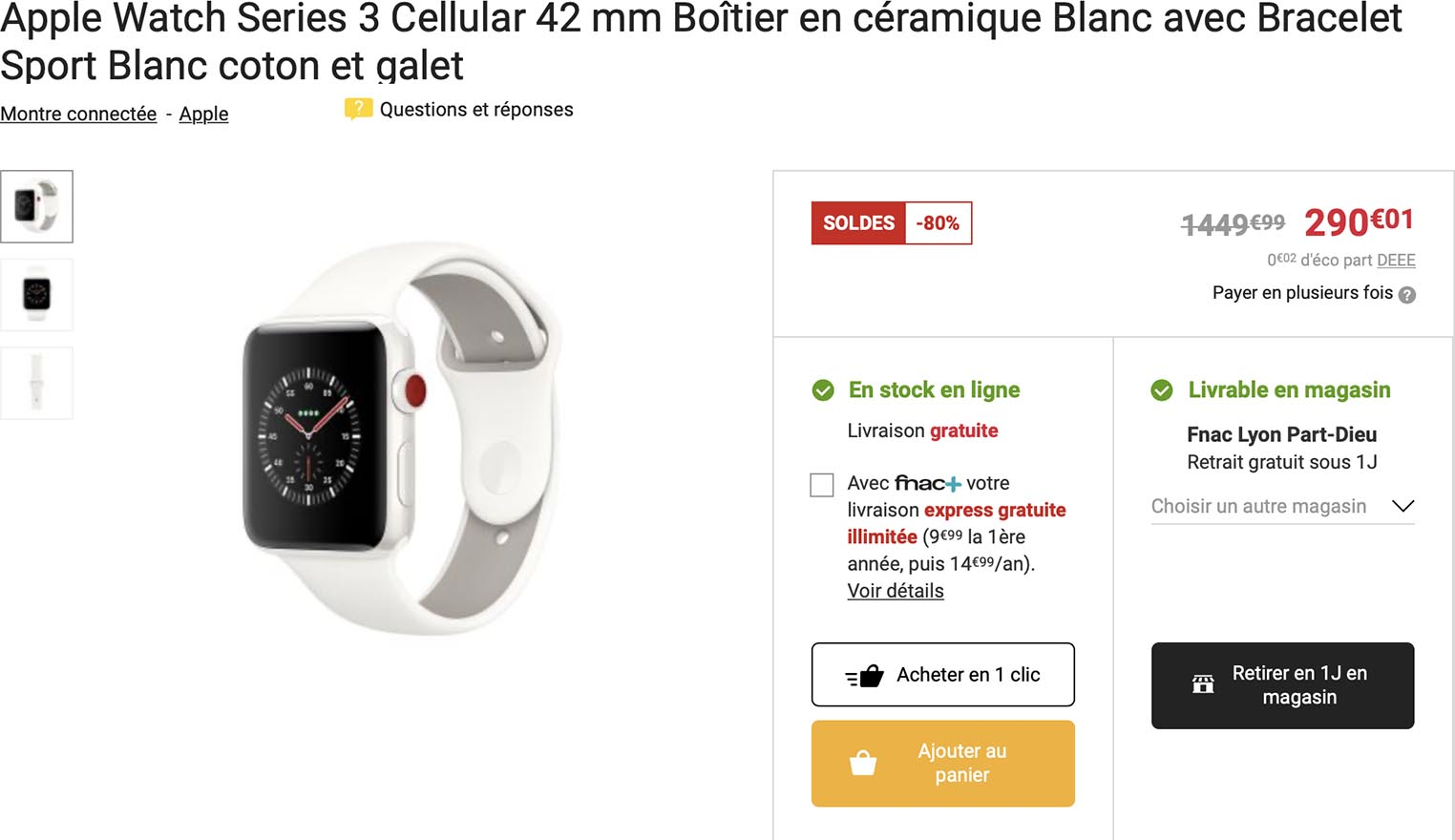 Apple Watch Edition Soldes Fnac