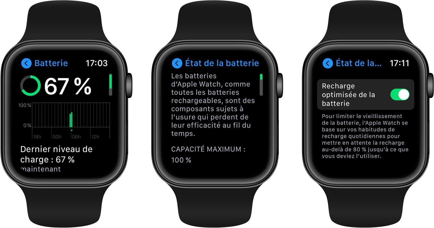 watchOS 7 recharge optimisée de la batterie