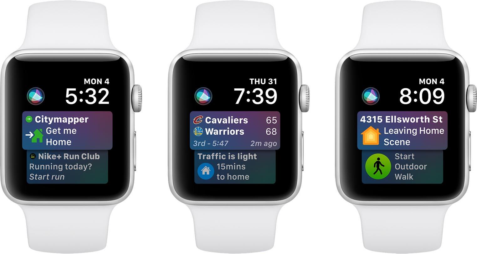 watchOS 5 Cadran Siri