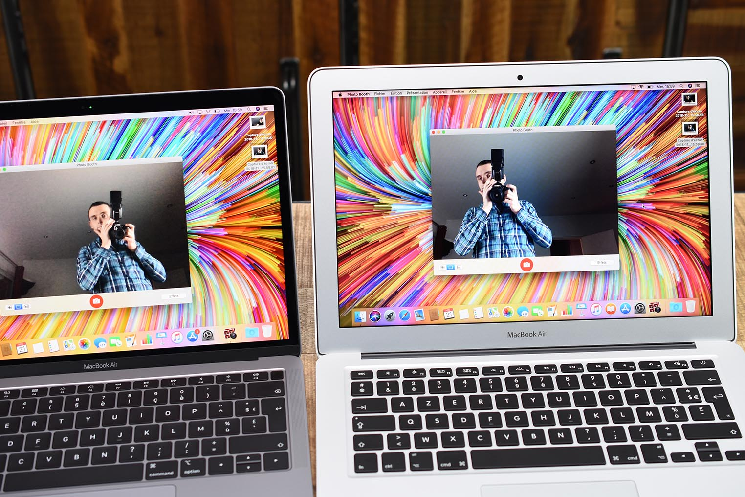 Comparatif webcam MacBook Air 2018