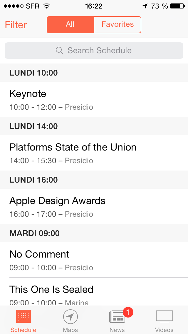 WWDC 2014 App