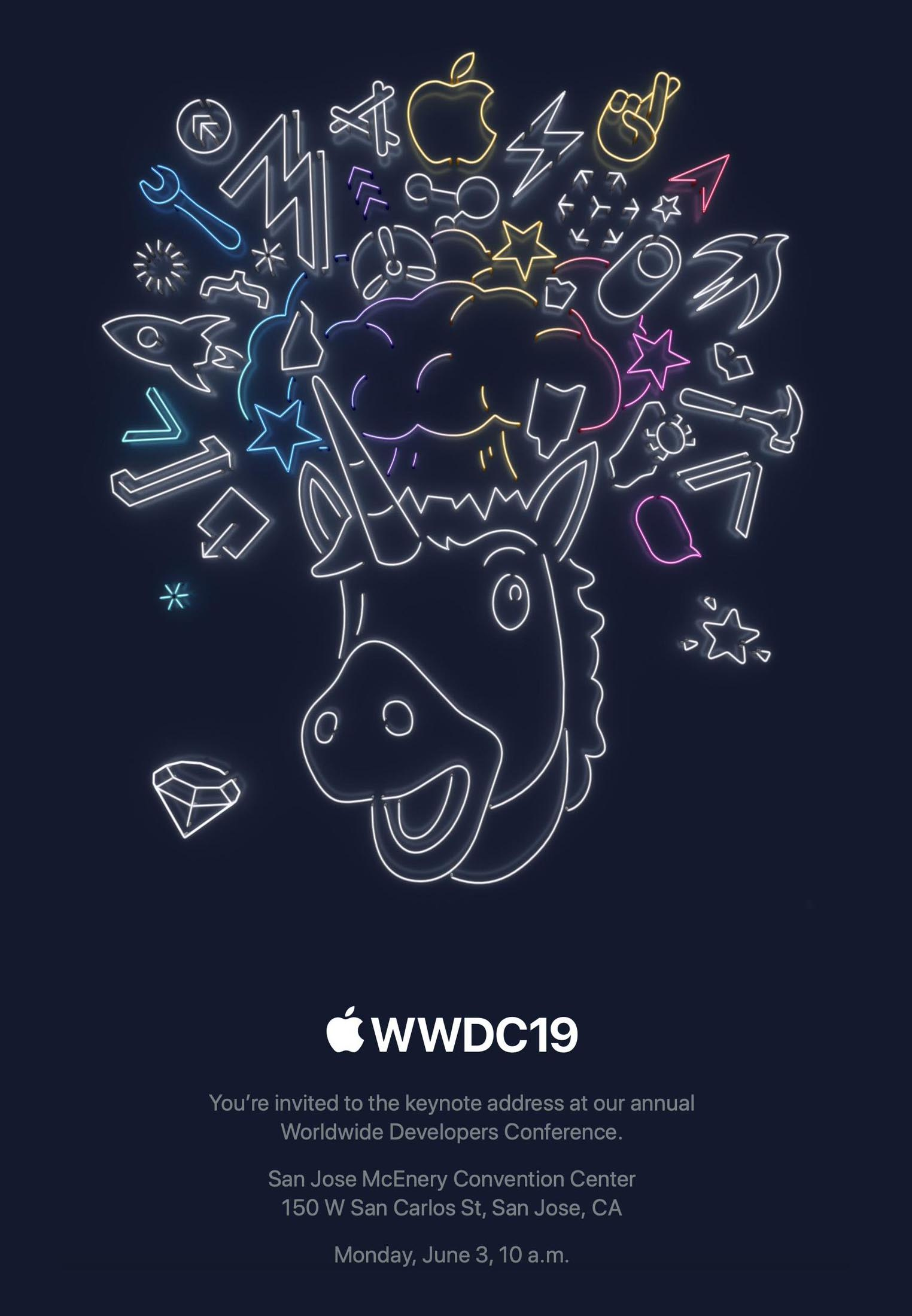 WWDC 2019 keynote invitation