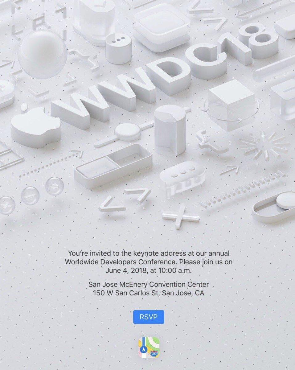 WWDC 2018 keynote invitation