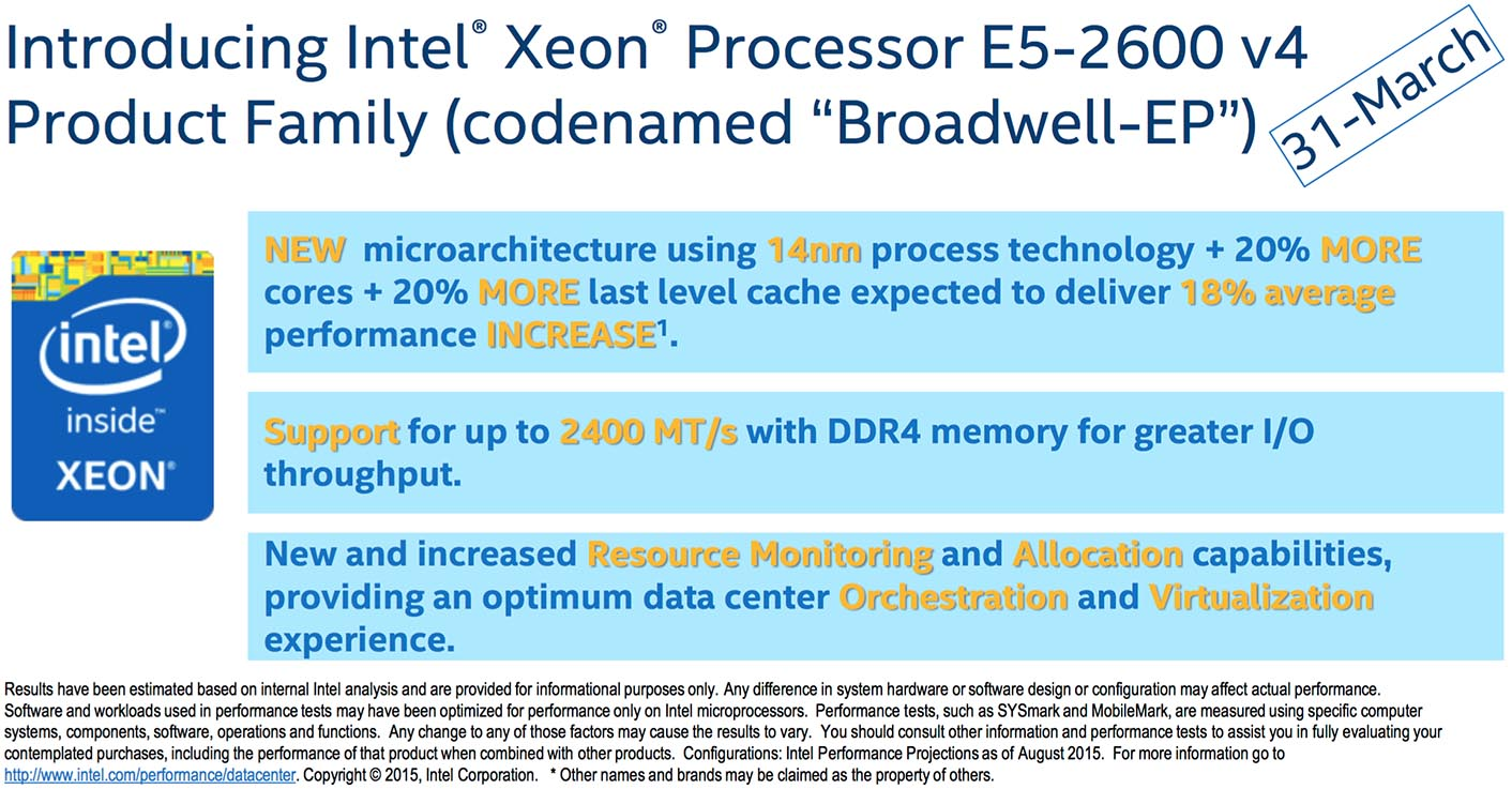 Xeon E5 2600 v4