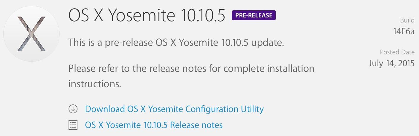 Yosemite 10.10.5 beta